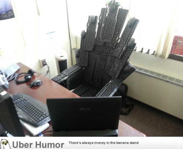 I work in IT and this is my new office chair  Funny