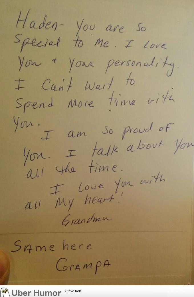 I Received A Birthday Card Thanks Grampa Funny