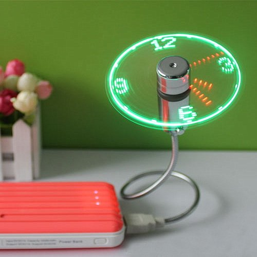 Mini USB LED Fan Watch