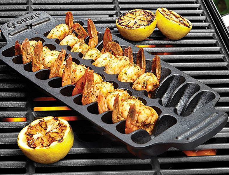 Shrimp Cast Iron Grill and Serving Pan