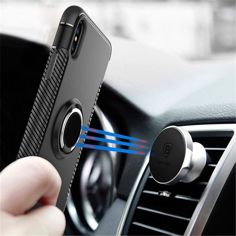 360 Rotating Finger Ring TPU Case