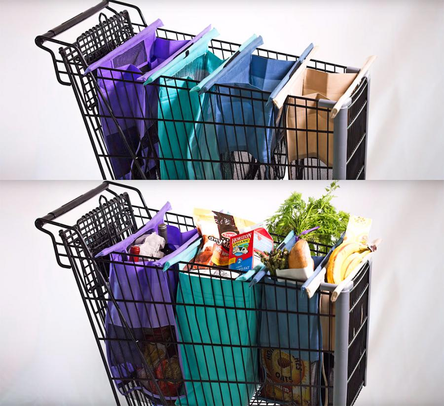Lotus Trolley Bags: Reusable and Expandable Grocery Cart Bags