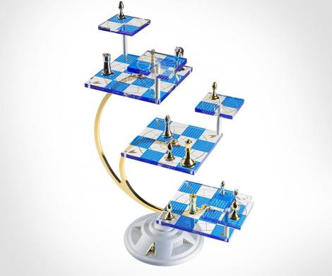 Star Trek Tridimensional 3D Chess Set Replica
