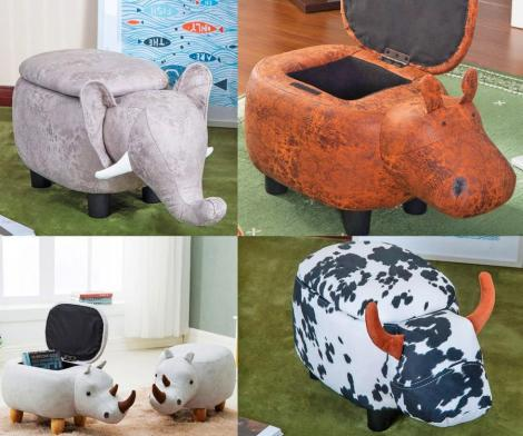 Animal Shaped Storage Ottomans