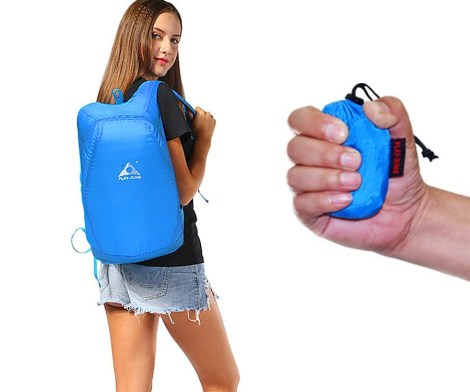 Tiny Packable Backpack Expands To Full Size Backpack