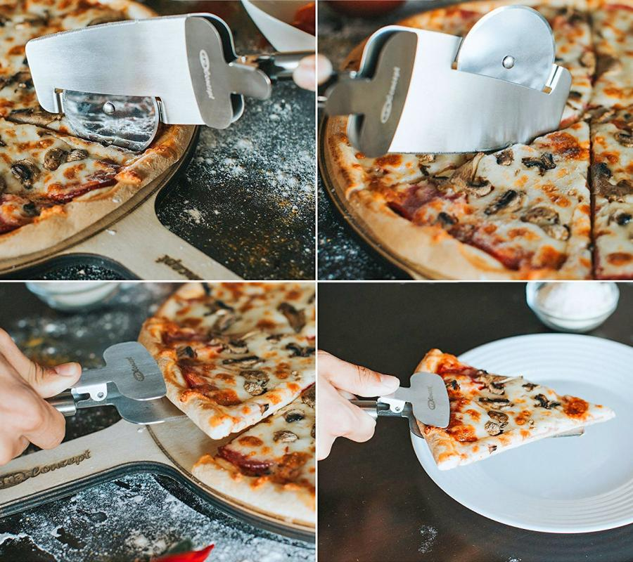 This 4-in-1 Pizza Cutter Doubles as a Pizza Serving Spatula
