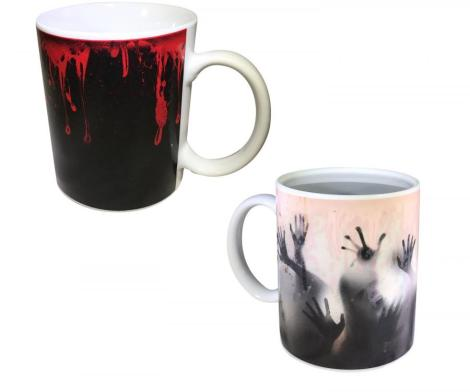 Walking Dead Zombie Mug Shows Zombies When Hot Liquid is Added