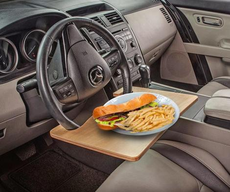 Wheelmate Steering Wheel Table For Easy Eating and Working In The Car