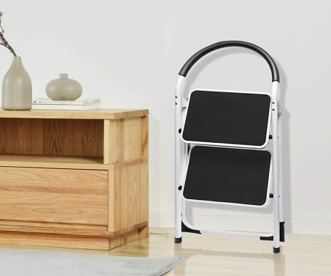 Delxo 2 Step Ladder Folding Step Stool