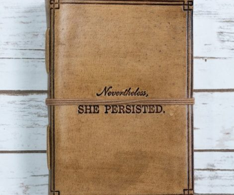 She Persisted Blonde Handmade Leather Journal