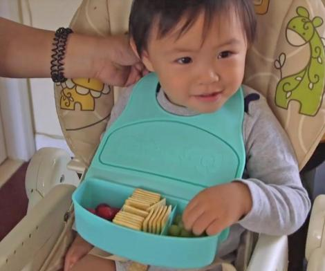 Snack and Go Travel Bib