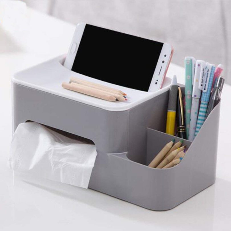 KINGZHUO Modern Style Tissue Box With Phone Holder