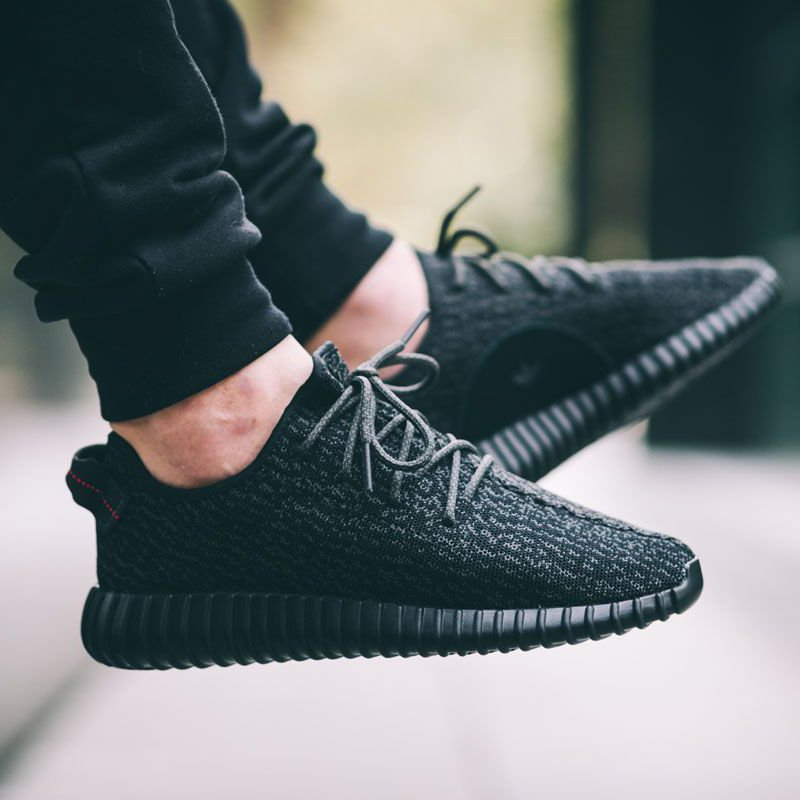 fed58652a Adidas Yeezy Boost 350 Pirate Black Sneakers