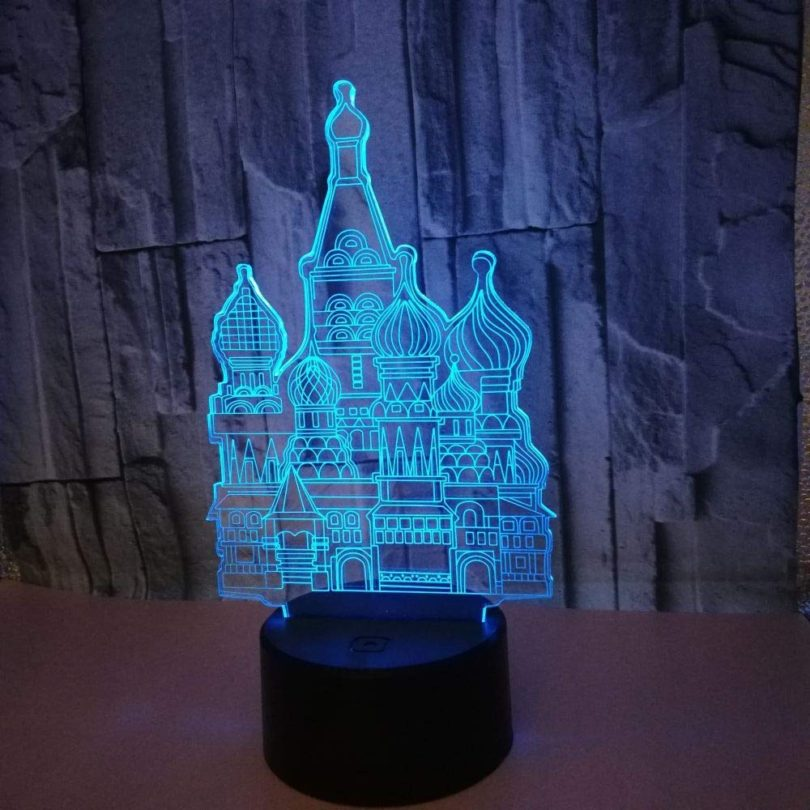 3D Castle LED Lamp Night Light