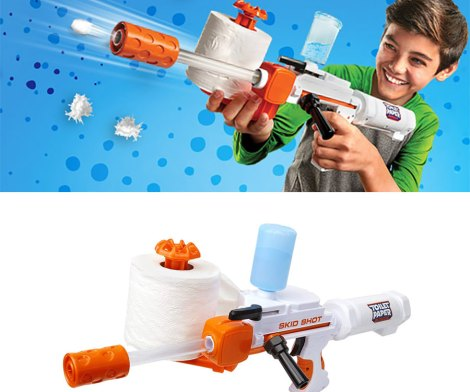 This Toy Gun Makes 350 Spitballs From One Roll Of Toilet Paper