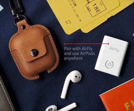 Twelve South AirSnap – Leather Case for AirPods