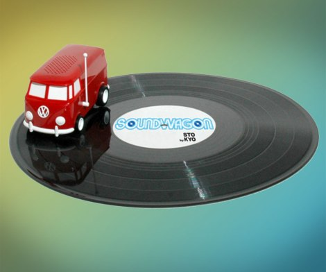 Soundwagon Portable Record Playing Hippy Van