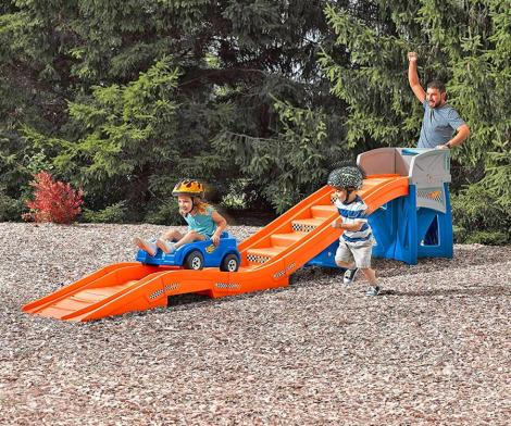 Kids Backyard Roller-Coaster