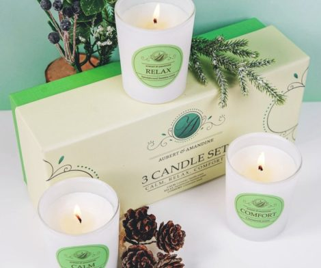 Aromatherapy Scented Candles Gift Set