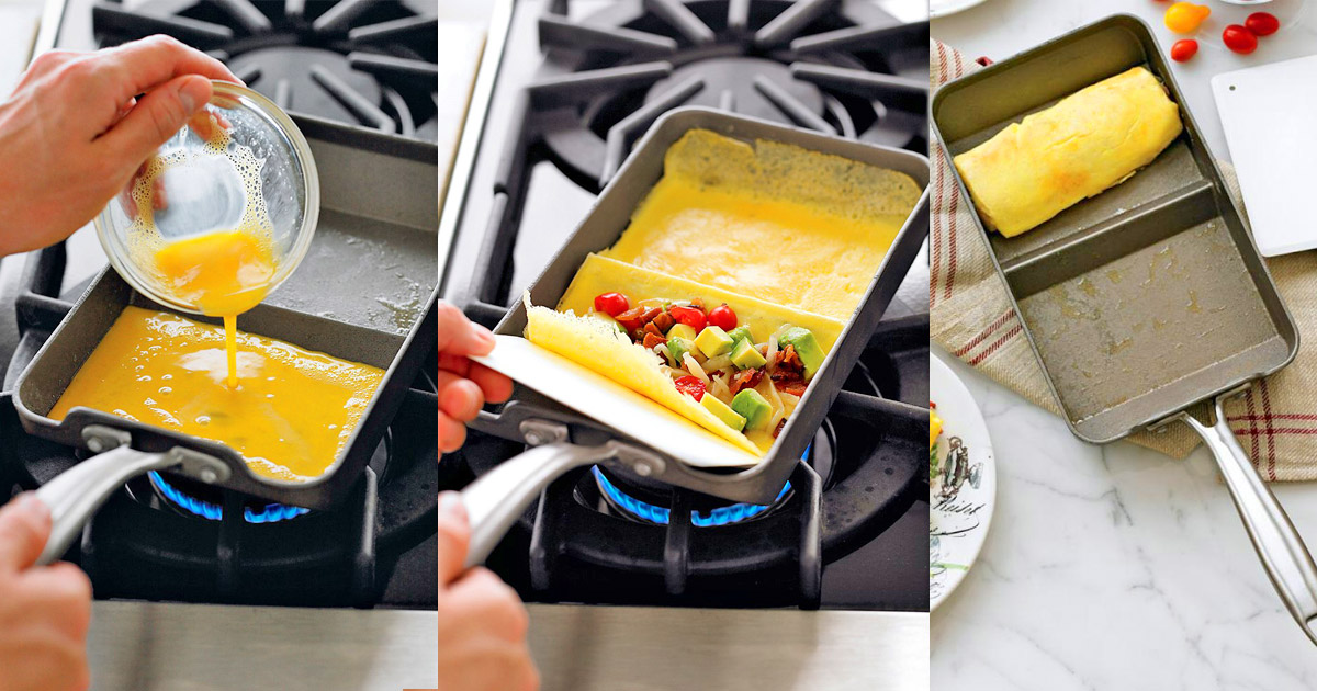 Rolled Omelette Pan by Nordic Ware