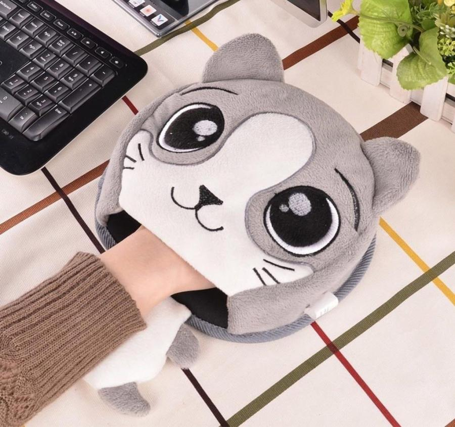 Cat Shaped USB Power Heating Mouse Pad