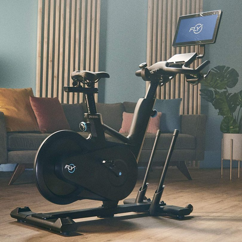Flywheel Home Exercise Bike with Built-in Tablet