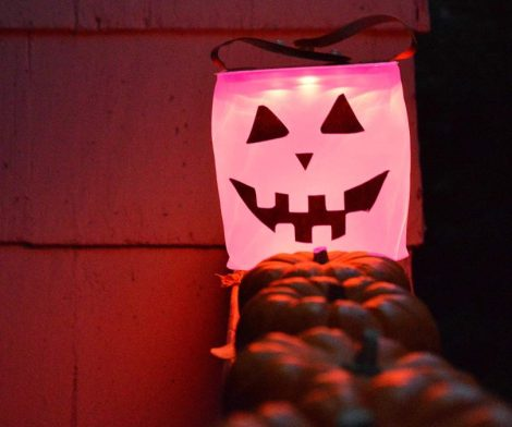 Customizable Halloween Solar Jack-o-Lantern