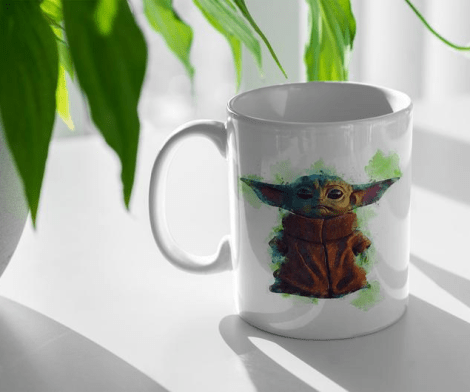Baby Yoda Obi-Wan For Me Heart Coffee Mug