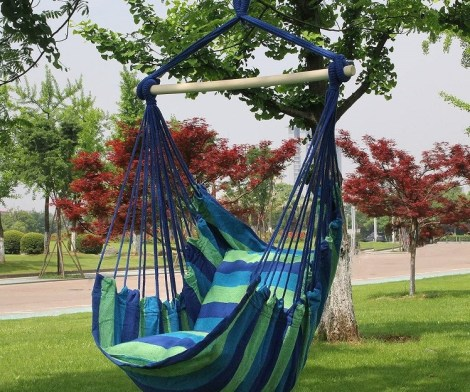 Child Hammock Swing Chair Seat with 2 Seat Cushions