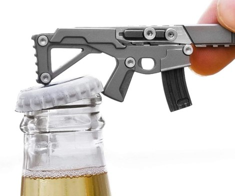 Ak-47 Small Keychain Multitool with Knife, Screwdriver and Bottle Opener
