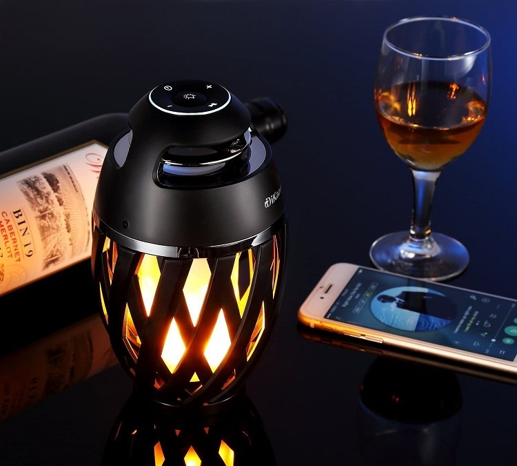 DIKAOU Led Flame Bluetooth Speaker