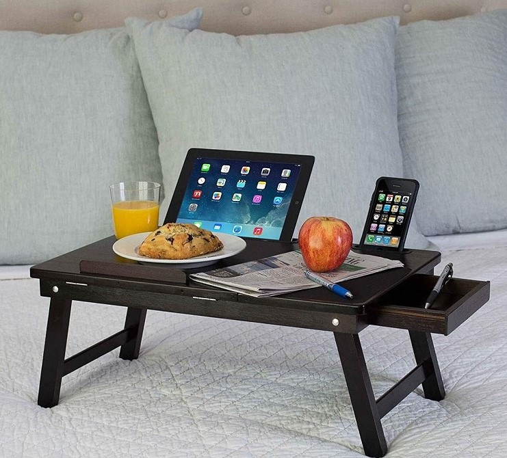 Multi-Tasking Bamboo Laptop Bed Tray Table