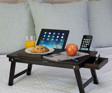Multi-Tasking Bamboo Laptop Bed Tray