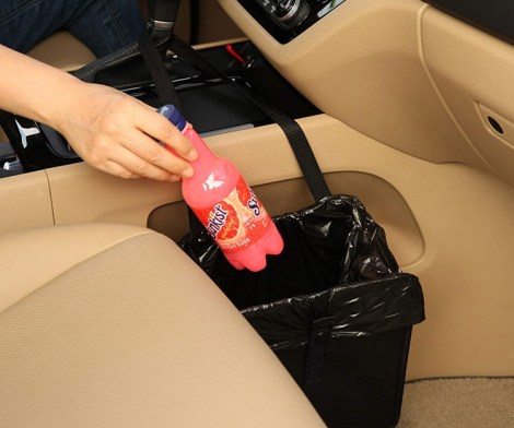 Multifunctional Foldable Car Garbage Bin