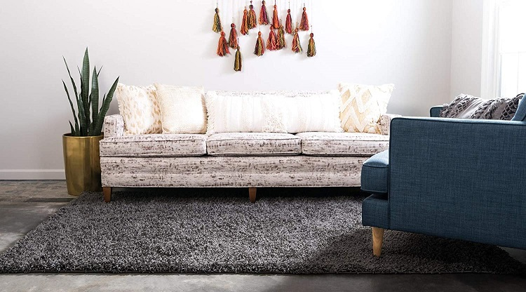 Unique Loom Modern Plush Graphite Gray Rug