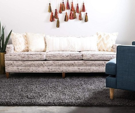 Unique Loom Modern Plush Graphite Gray Area Rug