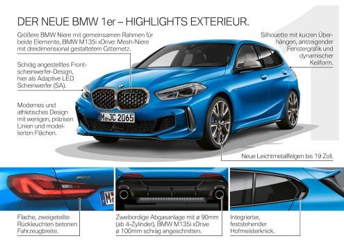 BMW 1er Factsheet Exterieur