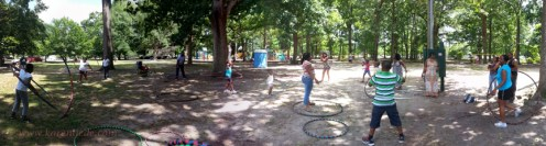 The hooping area at Art in the Park.