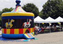 Bouncy houses are built for younger and smaller children. Ask us how we know...