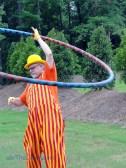 John the Balloon Man shows how to hoop the big hoop!