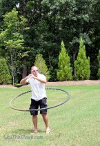 Sword fighting Dad learns he CAN hoop, when the hoop is Dad-sized!