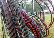 Set up for hooping at Old Fashion Day.