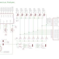 Audio Spectrum Analyzer Circuit Diagram 2006 Chevy Cobalt Ls Radio Wiring Msgeq7 Based W Lm3915 Attiny2313