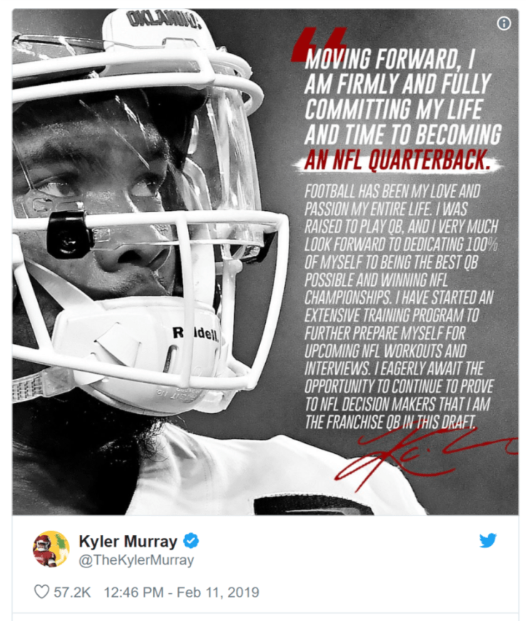 Kyler Murray Tweet