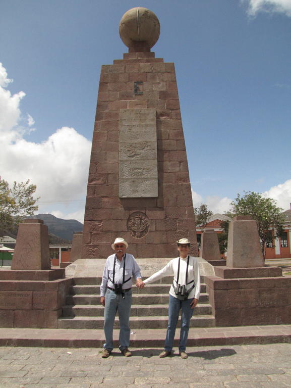Hands across the Equator: Tom is in the southern hemisphere, Diane in the northern