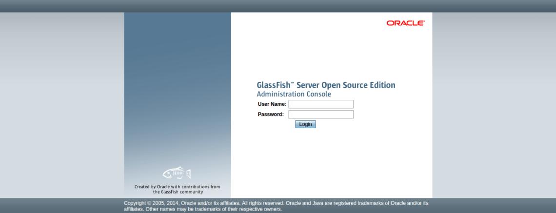Glassfish login page