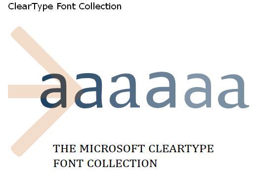 Microsoft Vista Fonts