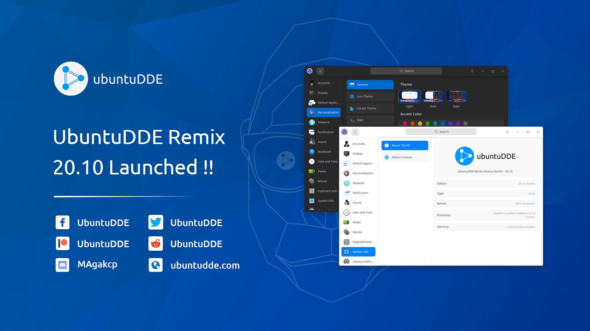 UbuntuDDE Remix Groovy Release