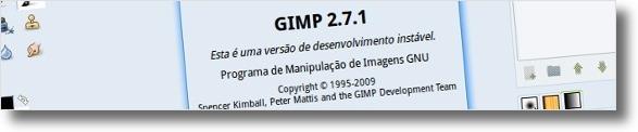 Gimp 2.7.1 ainda em desenvolvimento