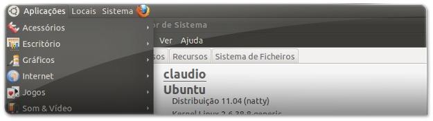 Ubuntu 11.04 Natty Narwhall com o ambiente clássico